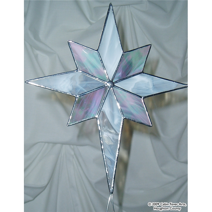Star Tree Topper - 8 x 9 White