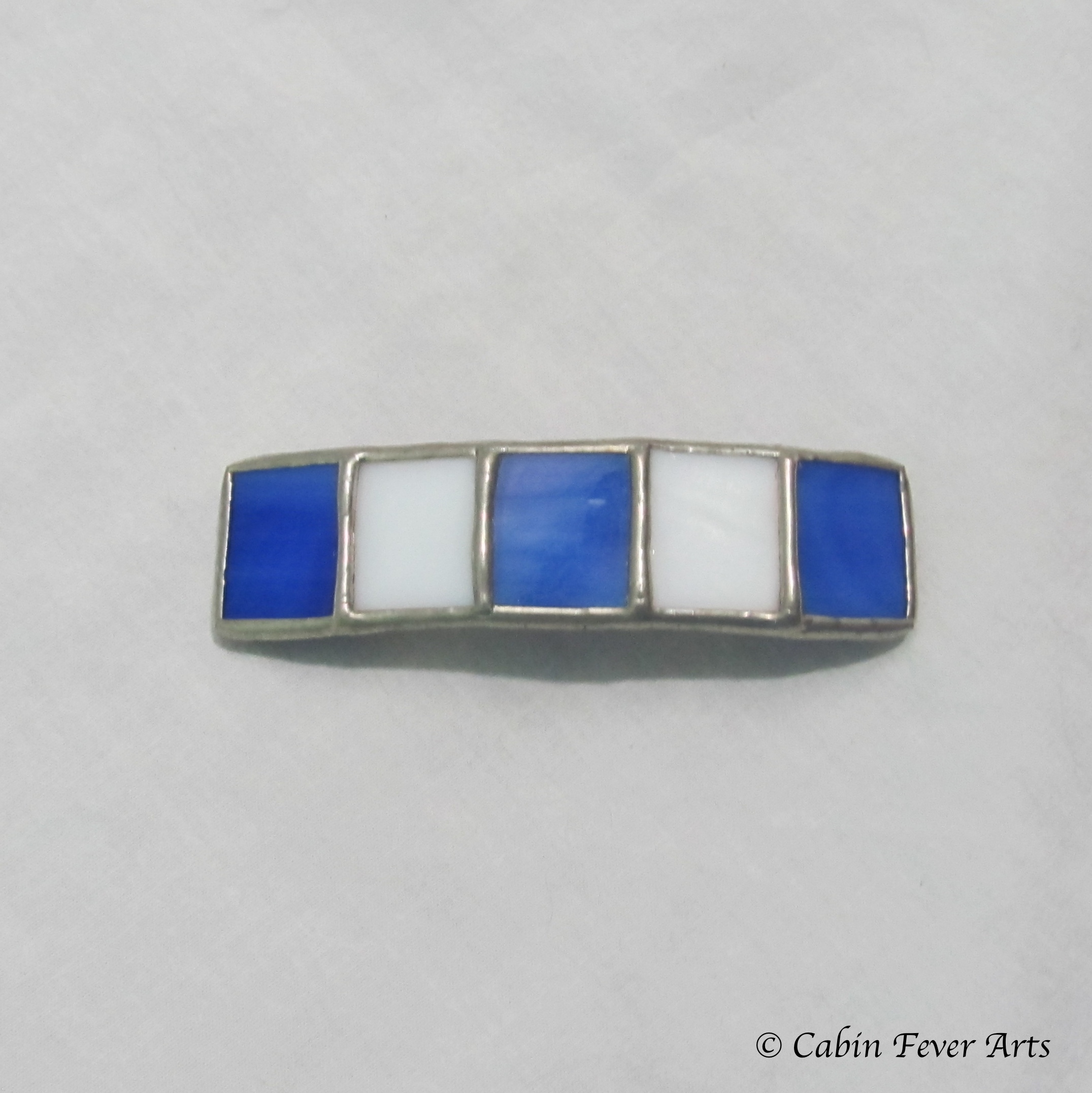 Barrette - Blue/White - 60 mm