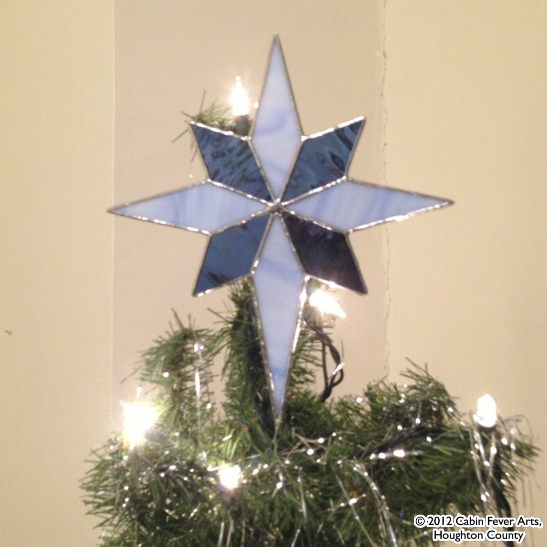 Star Tree Topper - 8 x 9 Blue