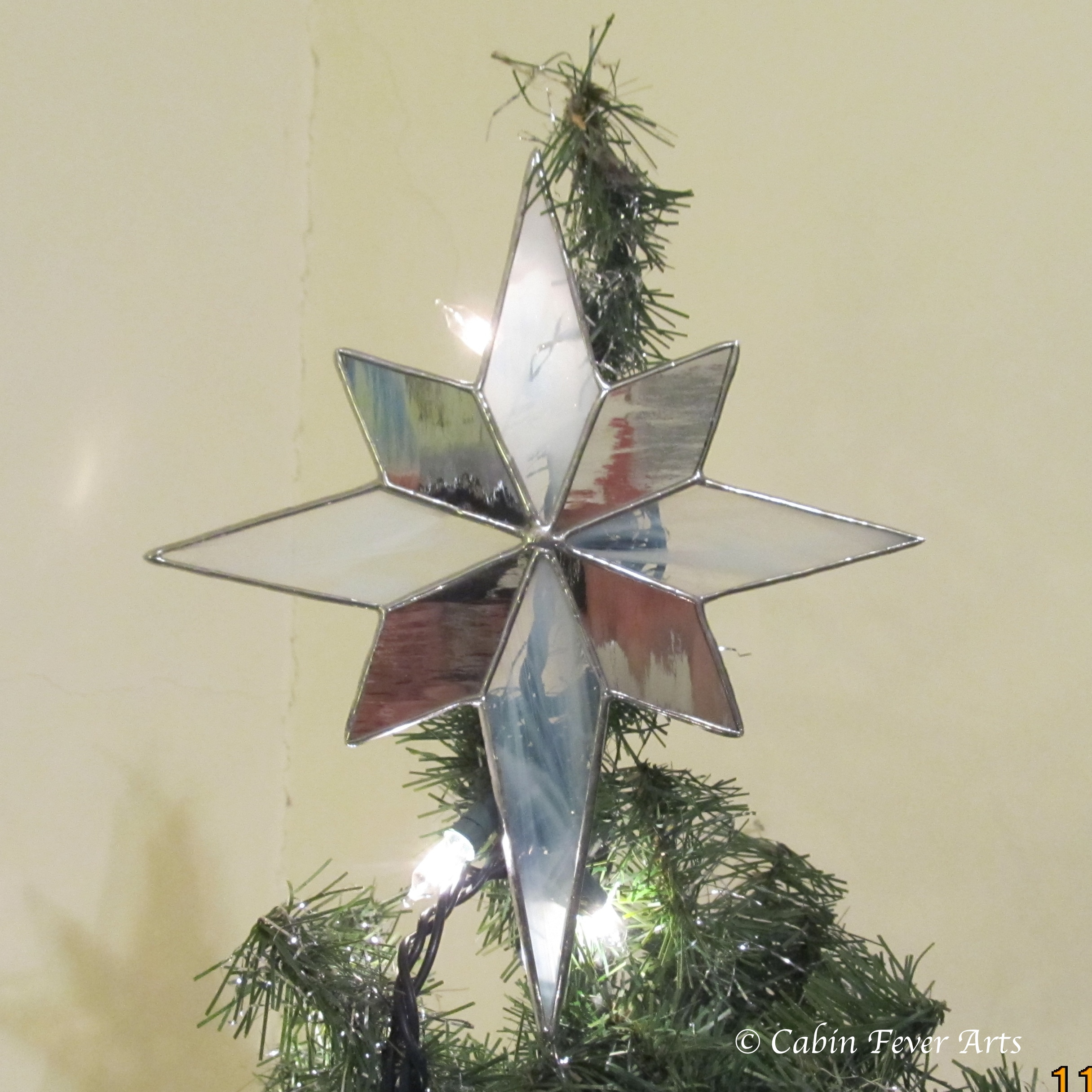 Star Tree Topper - 8 x 9 Silver