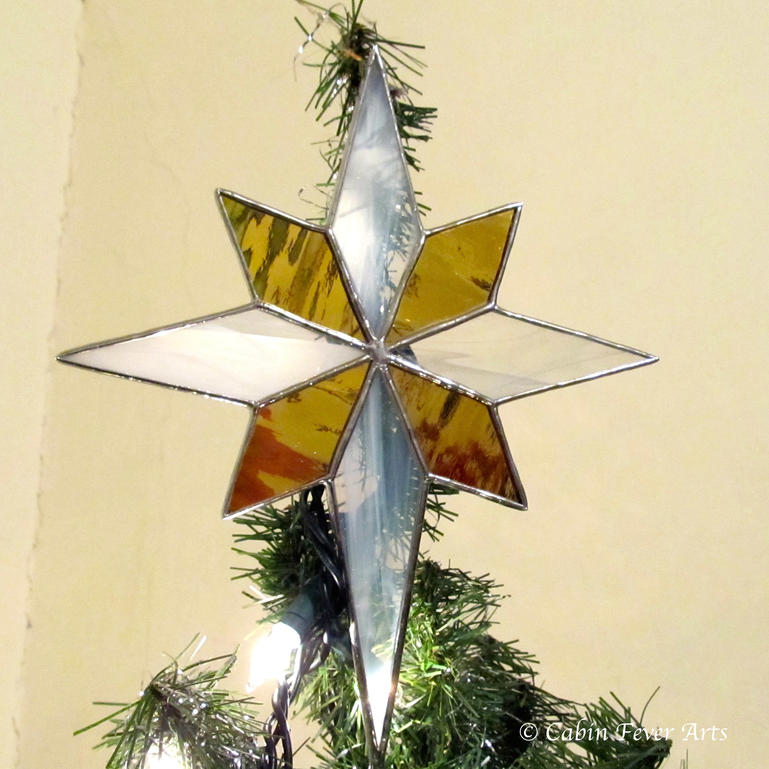 Star Tree Topper - 8 x 9 Gold