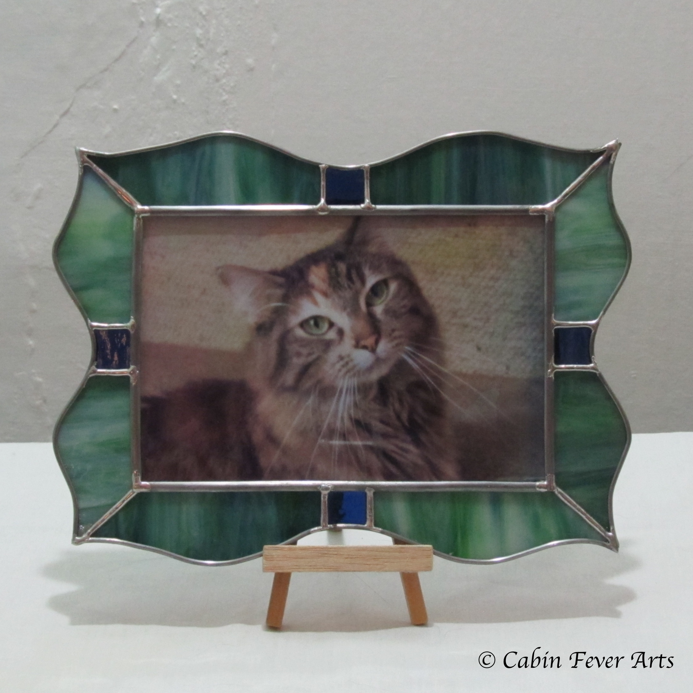 Frame - 4 x 6 - Wavy Blue Green